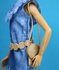 Barbie Fashionista Brown Adjustable Belt Circle Fringe Purse Separates 1/6 Scale