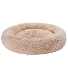 Diameter 36 Inch Zipper Detachable Machine Washable Cozy Fluffy Dog Warming Bed