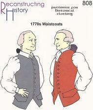 Schnittmuster RH 808: 1770s Waistcoats