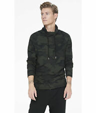 NEW EXPRESS $60 MENS GEO CAMO FUNNEL NECK  LONG SLEEVE TEE SZ L LARGE