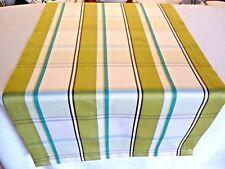 Tischläufer Tischdecke Tischset DEKO 47x130cm weiß grün Landhaus Modern Streifen