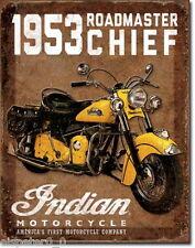 Blechschild 31 x 40, 1953 Indian Roadmaster, USA Werbeschild Art. #1932