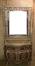 Antique ٍSideboard With Mirror, Wood Sideboard, Inlaid Mother of Pearl