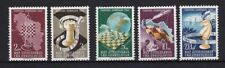 Echte Briefmarken aus Jugoslawien mit Schach als Satz