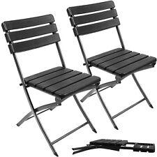 Klappbare Gartenstühle im 2er Set Gartenstuhl für Terrasse Balkon Camping 12284