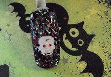 glitter mix acrylic gel nail art  SKULL KANDY  holloween mix