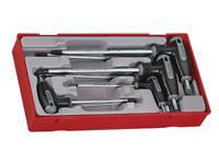 Teng Tools 7 Piece T-Handle Torx Key Set in a Teng Tools Modular Tray TTTX7