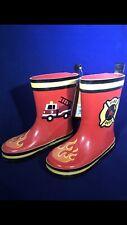 Stephen Joseph Boys Rain Boots Fire Truck Size 11 New In Box