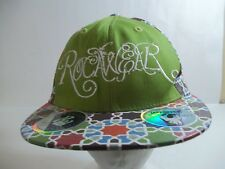 Rocawear Fitted Adjustable Baseball Hat Cap Size 7 3/8 Green spellout New