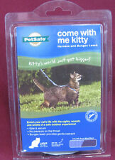 PetSafe Premier Feline / CAT Leader Come with Me Kitty Harness and Bungee, NEW