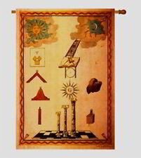 "Masonic Flag 28"" x 40"" Apprentice Tracing Board John Brown Freemason Banner"