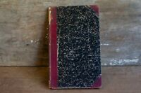 Old Antique Business Ledger Record Book -Odd Fellows Masonic book questions