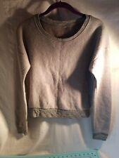 Unbranded: Junior's Gray Long Sleeve Crew Neck Soft Sweatshirt, Size Medium