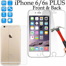 Tempered Glass 9H screen protector Apple iPhone 6 6s PLUS Front + Back