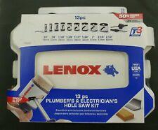 LENOX Bi Metal Hole Saw Kit 13 pc with Case Includes Arbors Pilot Drill Bits NIB