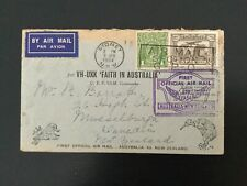More details for australia 1934 faith in australia 1st official airmail to nz (f493)