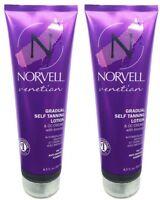 2 Norvell VENETIAN GRADUAL Self Tanning Lotion CC Cream w Bronzer 8.5oz