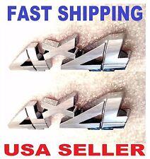 x2 Chrome 4 X 4 EMBLEM 4X4 car truck LINCOLN SATURN RAM logo decal SIGN badge 3D