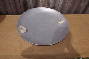 "VTG 25"" ROUND ALUMINUM DISC FLYING SAUCER (XMAS VACATION GRISWOLD)!!"