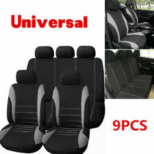9Pcs Car Seat Covers Full Set Sports Styling Four Season for Crossovers Sedan