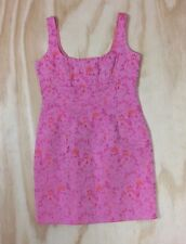 Nanette Lepore Petites Pink Orange Floral Empire Waist Sleeveless Dress Size 6P