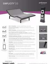 Leggett & Platt Simplicity 3.0 Adjustable Bed Base, Twin XL, Wireless, Massage