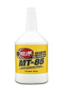 Red Line Fully Synthetic MT-85 75W85 GL4 Gear Oil Transmission 4 1-Quart Bottles