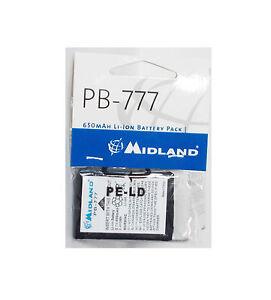 MIDLAND PB777 PACCO BATTERIE PER RICETRASMETTITORI CB RADIO ALAN 777   650 mAh