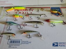 lot of 10 rapala Only fishing lures mixed salt fresh (r4)
