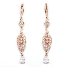 Pretty Gold Filled Cubic Zircon Women's Drop Earrings With Gift Box