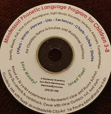 Home School Preschool Montessori Phonetic Language Material  print-cover-use CD