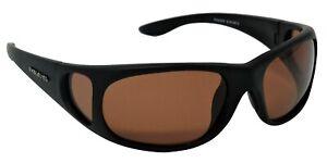 Stalker Sunglasses Polarized Amber UV400 Cat-2 Lenses + Side Shields