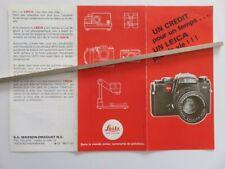 322 - Dépliant tarif et crédit pour Appareils Leica /Pradovit/Trinovid/Focomat