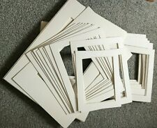 ASSORTED SIZED 33 PICTURE FRAME MOUNTS TEXTURED WHITE FOR PHOTOS PRINTS