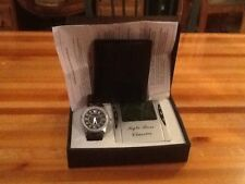 KYLE ROSS CLASSICS MENS GIFT SET. INCLUDES WATCH, BILLFOLD, ALARM, NIB