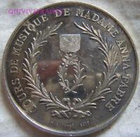 MED10453 - MEDAILLE COURS DE MUSIQUE Mme ANNA-FABRE - PALMES ACADEMIQUES