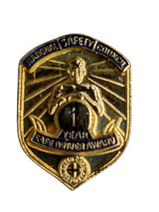National Safety Council NSC USPS 4 Year Safe Driver Award Lapel Hat Pin Tie Tack