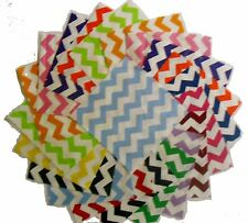 "30 5"" Quilting Fabric Sqs/Beautiful Bright Chevron Charm Packs"