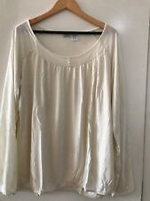 38 - Ladies Long Sleeve Thin Top - Cream ~ New With Tags in Bag