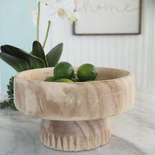 Beaufort Wooden Footed Bowl 28 x 16cm Hamptons Coastal Home Decor ©