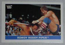 Rowdy Roddy Piper WWF 1991 Panini Euroflash Superstars Stickers Card #114 WWE 91