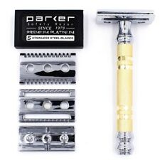 SAFETY RAZOR PARKER 69CR CONVERTIBLE WITH OPEN & CLOSED COMB PLATES