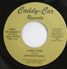 Private Rock 45 Anthony - Lonely One / Sad Eyes And Lonely Tears On Caddy-Car Re