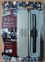 Parker Frontier Matte Black CT Chrome Trim Fountain Ink Pen - Thanksgiving gift