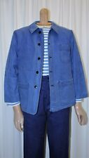 Veste travail vintage bleu indigo french work chore jacket 100% coton taille 46