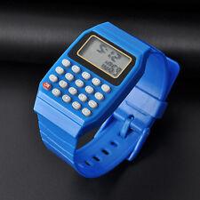 Fashion Child Kid Silicone Date Multi-Purpose Electronic Wrist Calculator Watch
