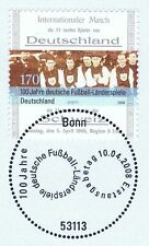 BRD 2008: 100 Jahre Fußball-Länderspiele Nr. 2659! Bonner Sonderstempel! 1A 156