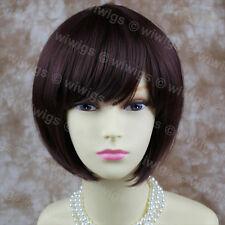 Wiwigs Lovely Silky Short Dark Wine Red Bob Skin Top Ladies Wig