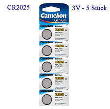 5 Camelion Button Cells Lithium Cr2025 Batteries Watch B31v