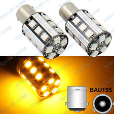 2x 21W Amber 50-SMD 7507 PY21W 20-SMD LED For Cars Turn Signal Corner Bulbs